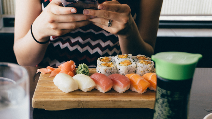Things Girls Do After Graduation: Sushi